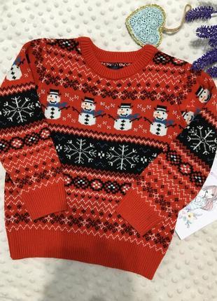 Красивый новогодний свитер на мальчика next, джемпер, реглан, кофта, пуловер