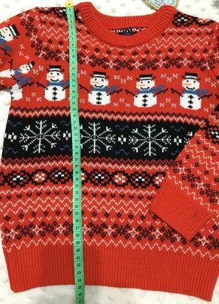 Красивый новогодний свитер на мальчика next, джемпер, реглан, кофта, пуловер2 фото