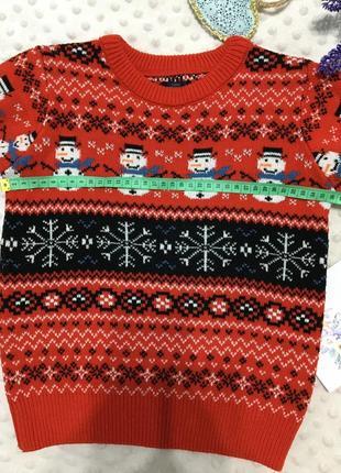 Красивый новогодний свитер на мальчика next, джемпер, реглан, кофта, пуловер3 фото