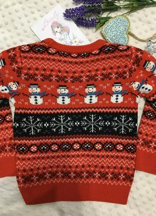 Красивый новогодний свитер на мальчика next, джемпер, реглан, кофта, пуловер5 фото