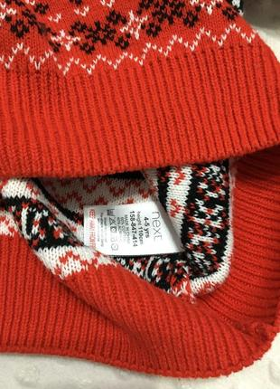 Красивый новогодний свитер на мальчика next, джемпер, реглан, кофта, пуловер6 фото