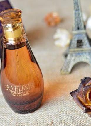 Парфюмированная вода so elixir bois sensuel ив роше