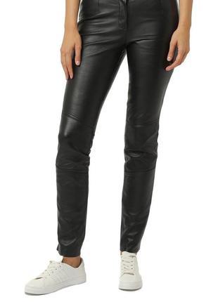 Кожаные штаны скинни брюки 100% натуральная кожа