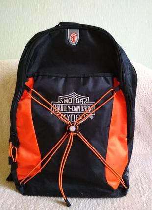 Рюкзак спортивный черный cycles harley davidson