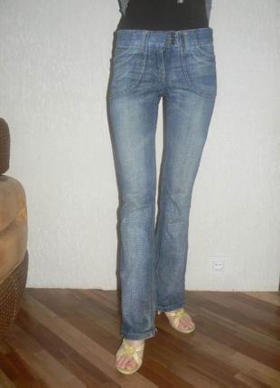 Брендовые фирменные джинсы morgan оригинал женские качественные прямые модные стильные