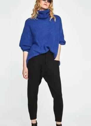 Трикотажные очень тёплые   штаны джоггеры m/l