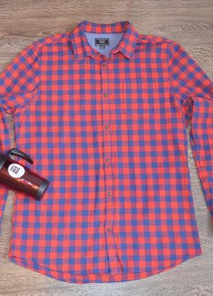 Трендовая коттоновая рубашка в клетку от f&f