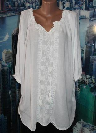 Блуза вышивка вискоза
