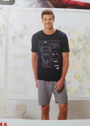 Disney крутая мужская пижама домашний костюм star wars от disney германия, футболка шорты