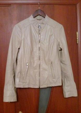Кожаная куртка esprit,оригинал,новая