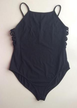 Черный боди от new look , натуральная ткань, на 14-15 лет, рост 164-170