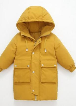 Теплое зимнее пальто/пуховик зимний детский