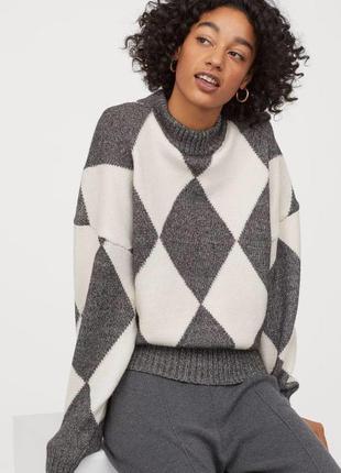 Крутой свитер в ромбы из коллаборации премиум бренда pringle of scotland и h&m