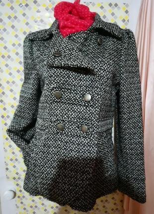 Осеннее двубортное пальто на подкладке. h&m