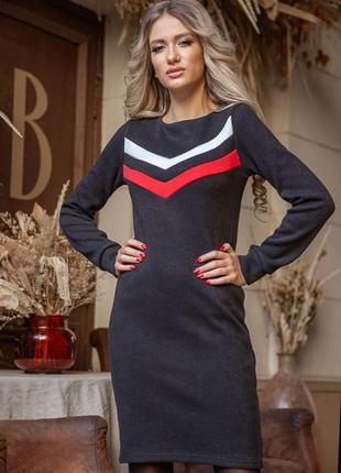 Платье, цвет чёрно-красный