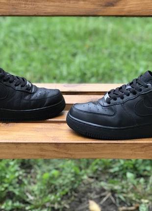Оригинальные кожаные кроссовки nike air force 315115-038