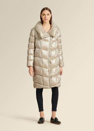 Пуховик-одеяло пальто donna karan 100% пух