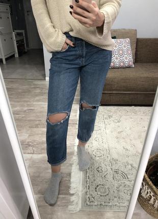 Джинсы mom, boyfriend jeans h&m