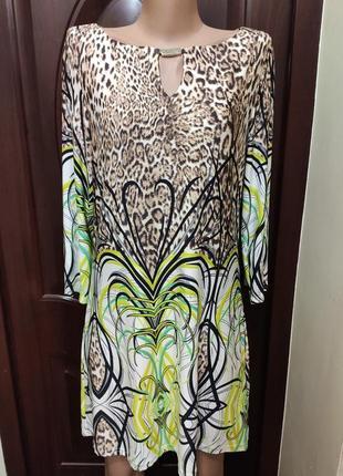Julien macdonald тоненькое нарядное платье с рукавом 3/4, анималистический принт
