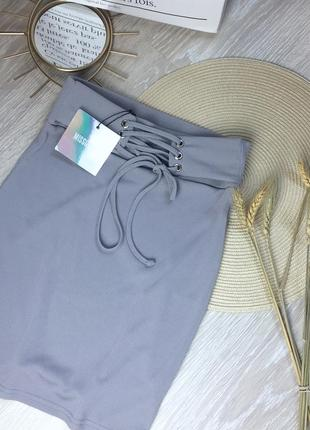 Новая юбка со шнуровкой