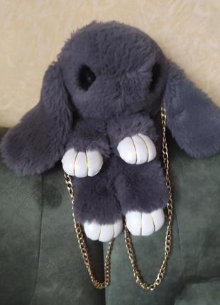 Сумка для девочки меховая заяц (кролик)