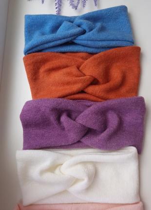 Теплая повязка ангоровый трикотаж чалма тюрбан аксессуары для волос