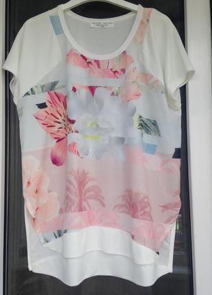 Zara стильная интересная блуза м-л