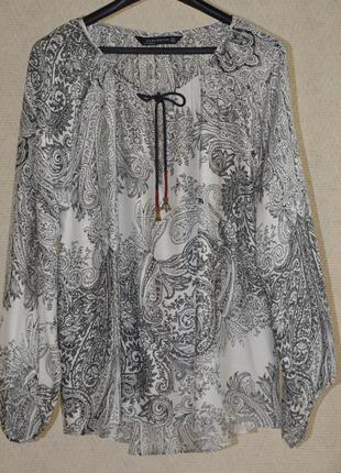 Блуза вискоза шелк zara