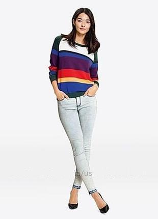 Яркий радужный свитер из органического хлопка esmara m