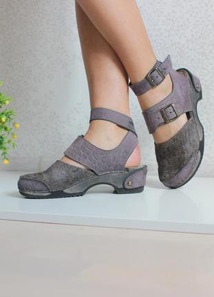 Кожаные босоножки сабо туфли, натуральная кожа
