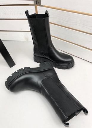 Ботинки женские натуральная кожа высокие челси прада боттега