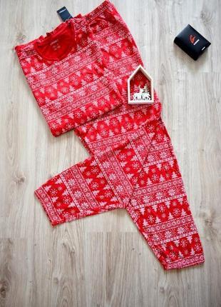 Яркая новогодняя пижама , домашняя одежда livergy xl немецкое качество  батал