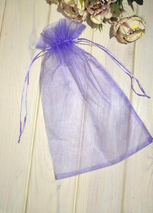 20х30 см мешочек из органзы с лентами purple probeauty