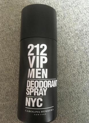 Мужской дезодорант 212 vip men ny carolina herrera, оригинал