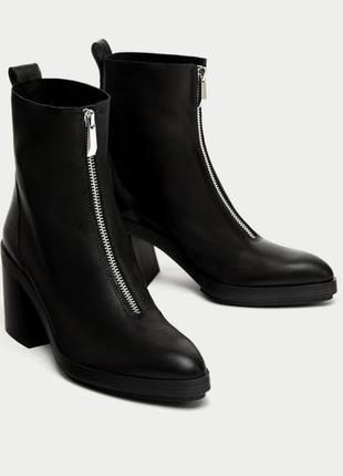 Кожанные стильные ботинки!38 р