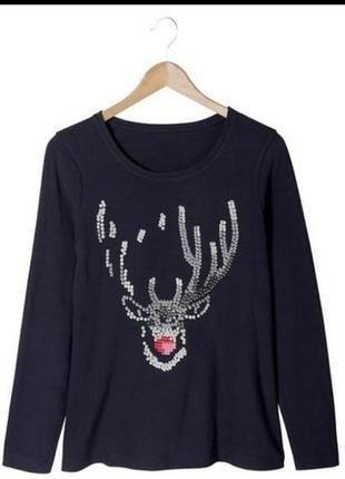 Реглан / лонгслив / футболка с длинным рукавом для отдыха и сна / esmara / германия