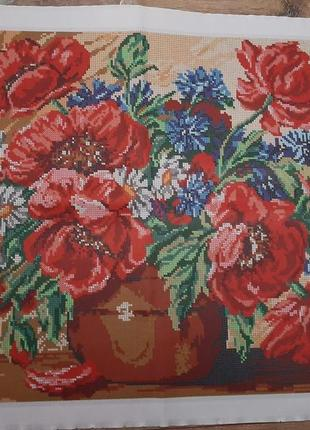 Схема вышивки цветы, вишивка бисер