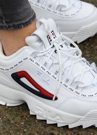 Fila disruptor ii premium repeat (5fm00079-125) оригинальные женские кроссовки 40 размер