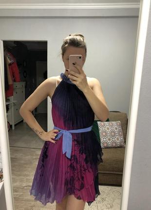Нарядное, праздничное, плиссированное платье, для беременных