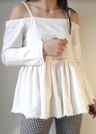 Блуза топ с открытыми плечами asos