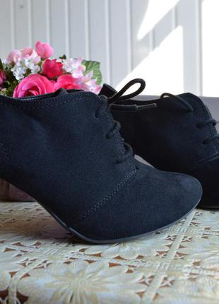 Ботильоны черные ботинки graceland ботінки чорні р. 37