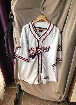 Винтажная аутентичная бейсбольная футболка arizona от colosseum sport xxl мерч бейсбол