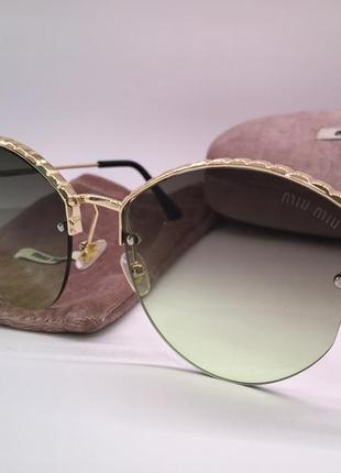 Женские солнцезащитные очки новинка сезона с брендовым футляром
