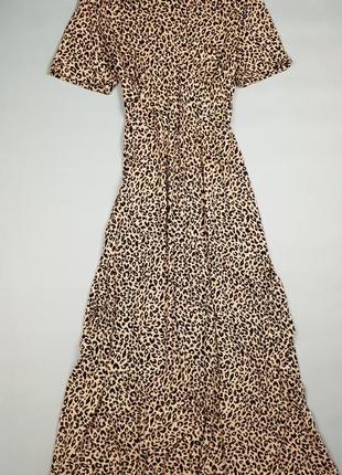 Платье миди в леопардовый принт m&co