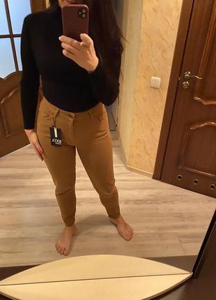 Мом fit джинсы цвет camel,беж высокая талия 26,27,28р как zara