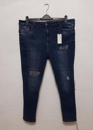 Стильные модные трендовые джинсы большого размера 22