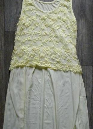 Красивенное платье сарафан с вышивкой