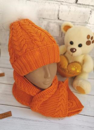 Детский зимний наборчик шапочка и шарфик