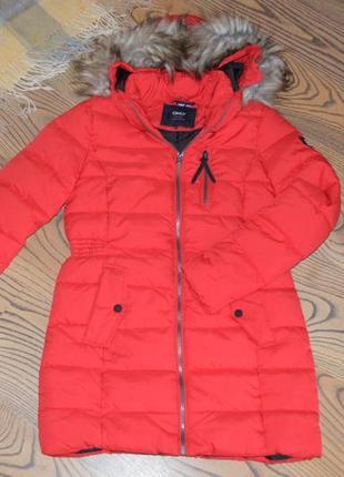 Куртка пальто only красная