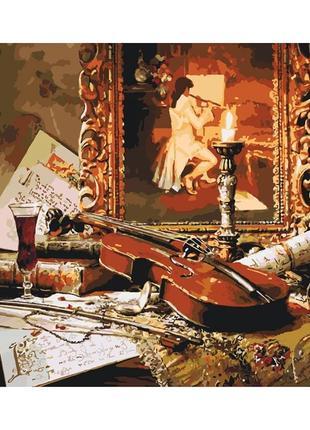 Картины по номерам волшебная музыка скрипки 2509